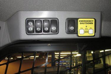 CAT 257D Multi Terrain Loader Dash Control Installation
