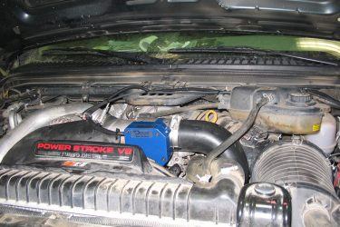 Ford 6.0L Air Intake Side Valve Installation Engine View