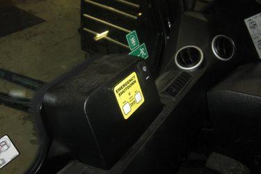 JCB 190 Skidsteer Dash Control Installation