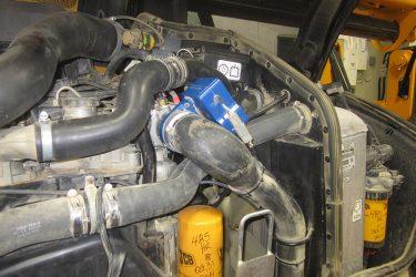 JCB 510-56 Loadall Valve Installation Engine View