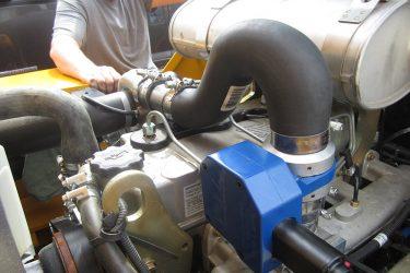 JCB 950 Forklift Valve Installation Engine View