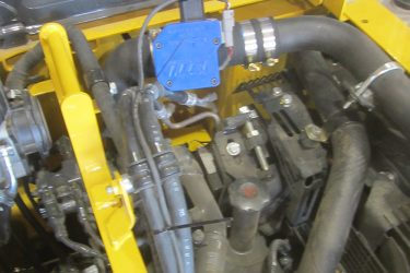 Komatsu PC228 USLC Excavator Valve Installation Engine View