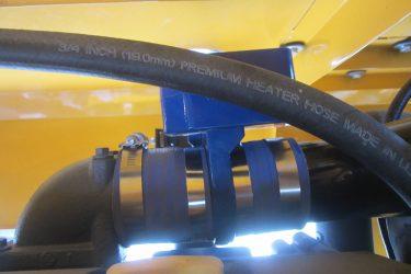 Putzmeister BSA 120 Concrete Pump Valve Installation Engine View
